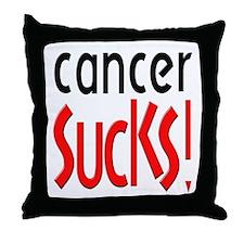 Cancer Sucks! Throw Pillow