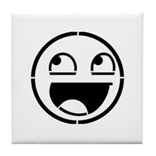 Awesome Face Stencil Tile Coaster