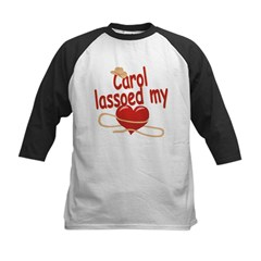 Carol Lassoed My Heart Kids Baseball Jersey