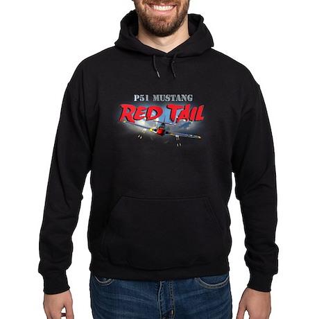 P51 Mustang Red Tail Hoodie (dark)