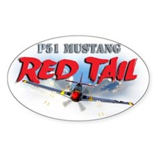P51 Mustang Red Tail Decal