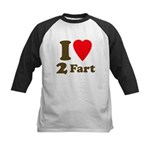 I love farting Kids Baseball Jersey
