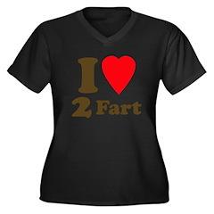 I love farting Women's Plus Size V-Neck Dark T-Shi