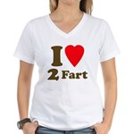 I love farting Women's V-Neck T-Shirt