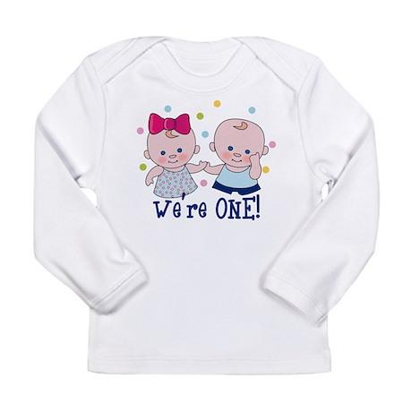 We're One Boy & Girl Long Sleeve Infant T-Shir