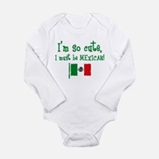 So Cute Mexican Long Sleeve Infant Bodysuit