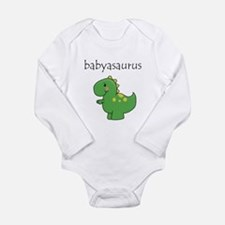 Babyasaurus Dinosaur Long Sleeve Infant Bodysuit