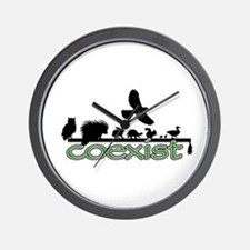 Wildlife Coexist Wall Clock