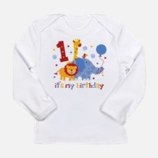 Safari 1st Birthday Long Sleeve Infant T-Shirt