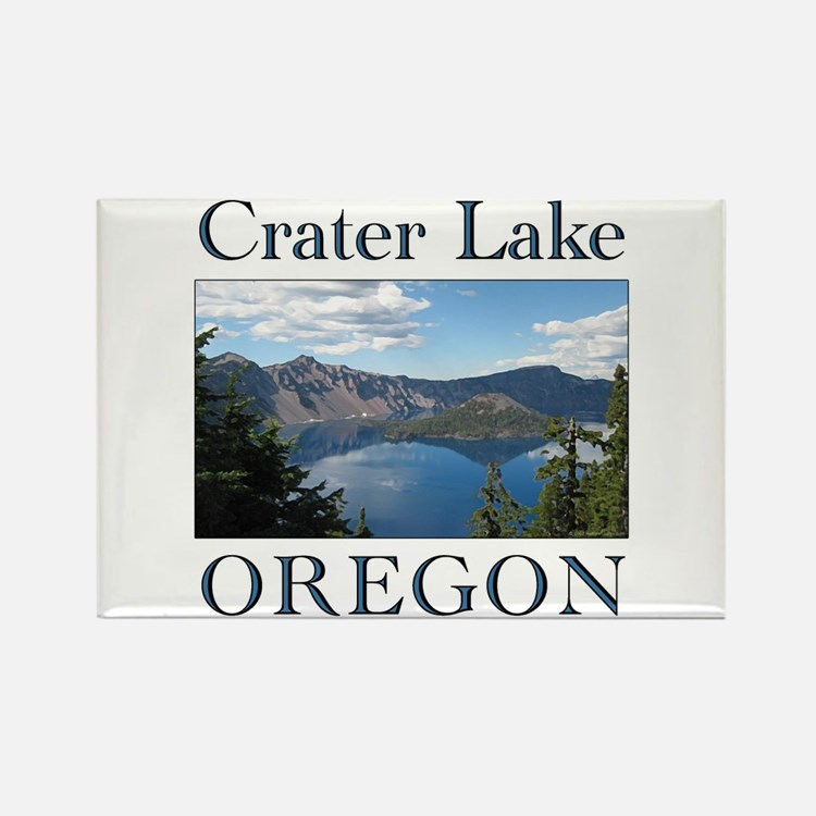 Cute Crater lake Rectangle Magnet