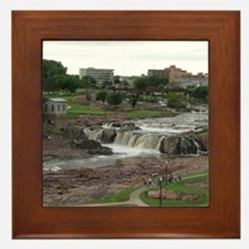 Summer At The Falls 3 Framed Tile