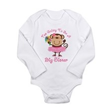 Monkey Future Big Sister Long Sleeve Infant Bodysu