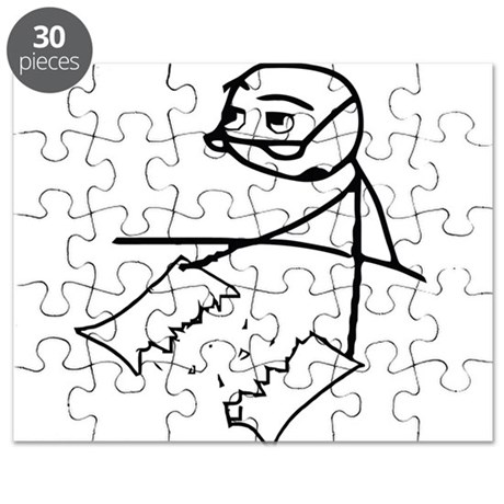 Cereal Guy Newspaper Tear Puzzle