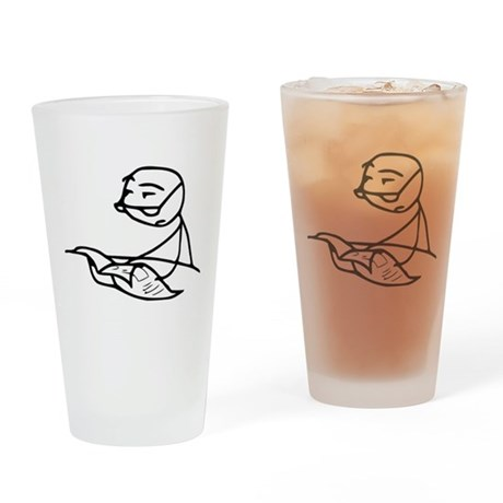 Cereal Guy Newspaper Drinking Glass