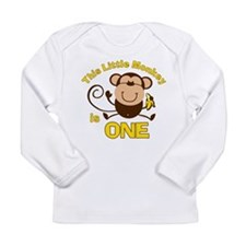 Little Monkey 1st Birthday Boy LS Infant T-Shirt