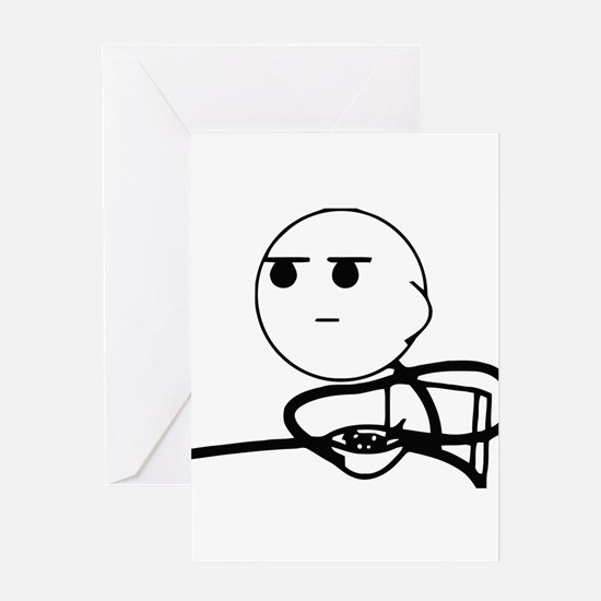 Cereal Guy Squint Greeting Card