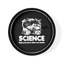 Science Black Wall Clock