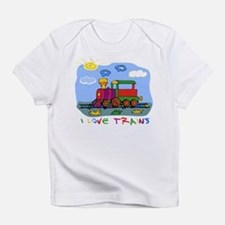 I Love Trains Infant T-Shirt