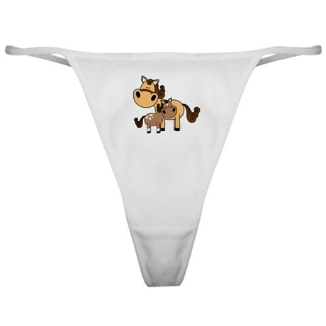 Mama and Baby Horse Classic Thong
