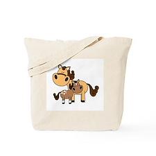 Mama and Baby Horse Tote Bag