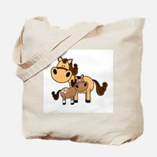 Mama and Baby Horse Tote Bag