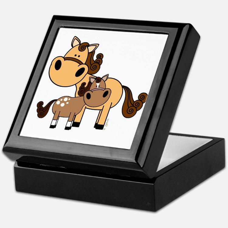 Mama and Baby Horse Keepsake Box