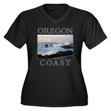 Funny West coast Women's Plus Size V-Neck Dark T-Shirt
