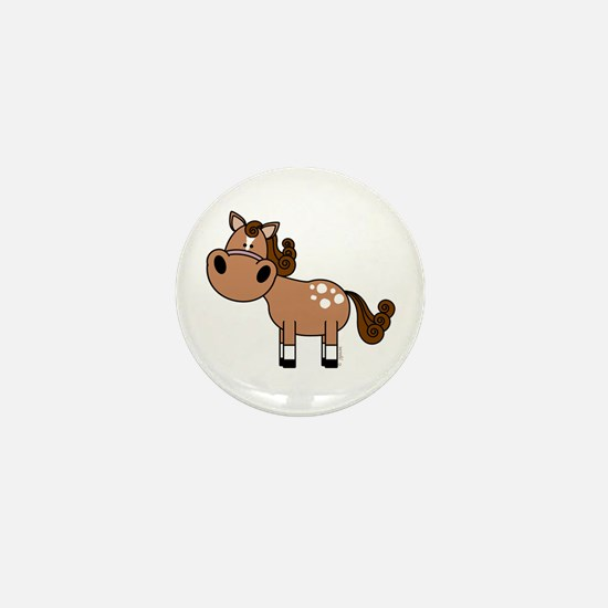 Appaloosa Horse Mini Button