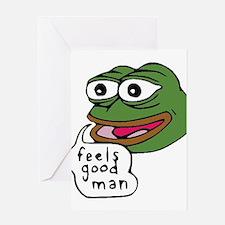 Feels Good Man Greeting Card