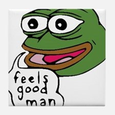 Feels Good Man Tile Coaster