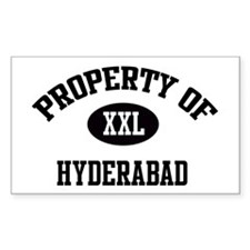 Property of Hyderabad Rectangle Decal