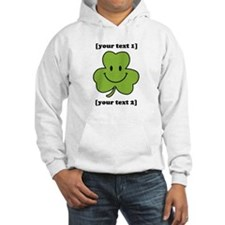 [Your text] Shamrock Smiley Hoodie