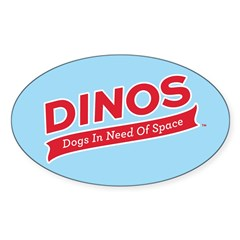 Team DINOS Logo Sticker (Oval)