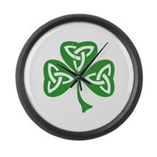 St Patrick's day Large Wall Clock