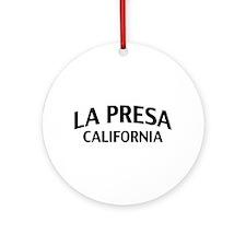 La Presa California Ornament (Round)
