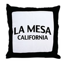 La Mesa California Throw Pillow