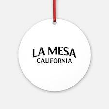 La Mesa California Ornament (Round)