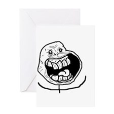Forever Alone Teeth Greeting Card
