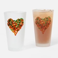 Cute Candy heart Drinking Glass