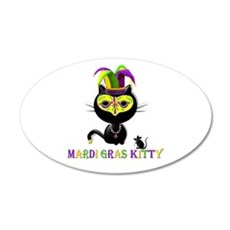Mardi Gras Kitty Wall Decal