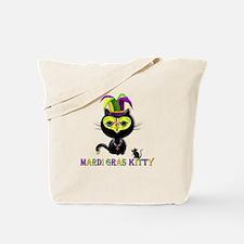 Mardi Gras Kitty Tote Bag