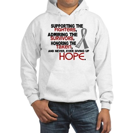 © Supporting Admiring 3.2 Brain Cancer Hooded Swea