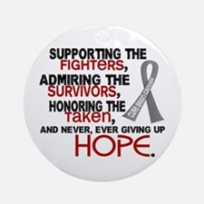 © Supporting Admiring 3.2 Brain Cancer Ornament (R