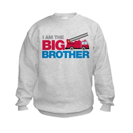 Firetruck Big Brother Kids Sweatshirt