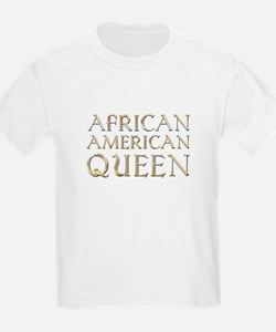 African American Queen Kids T-Shirt