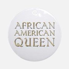 African American Queen Ornament (Round)