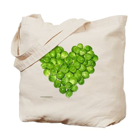 Brussel Sprouts Heart Tote Bag
