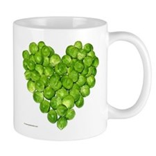 Brussel Sprouts Heart Mug