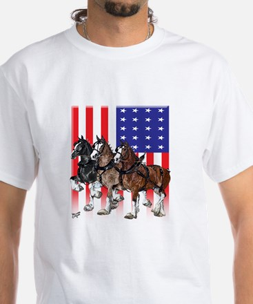 Clydesdale Men's White T-Shirt