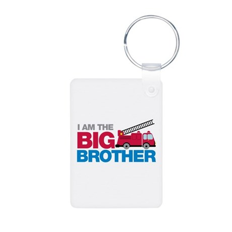 Firetruck Big Brother Aluminum Photo Keychain